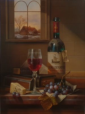 Zoltan Preiner Château Beychevelle Grand Vin wine oil painting for sale