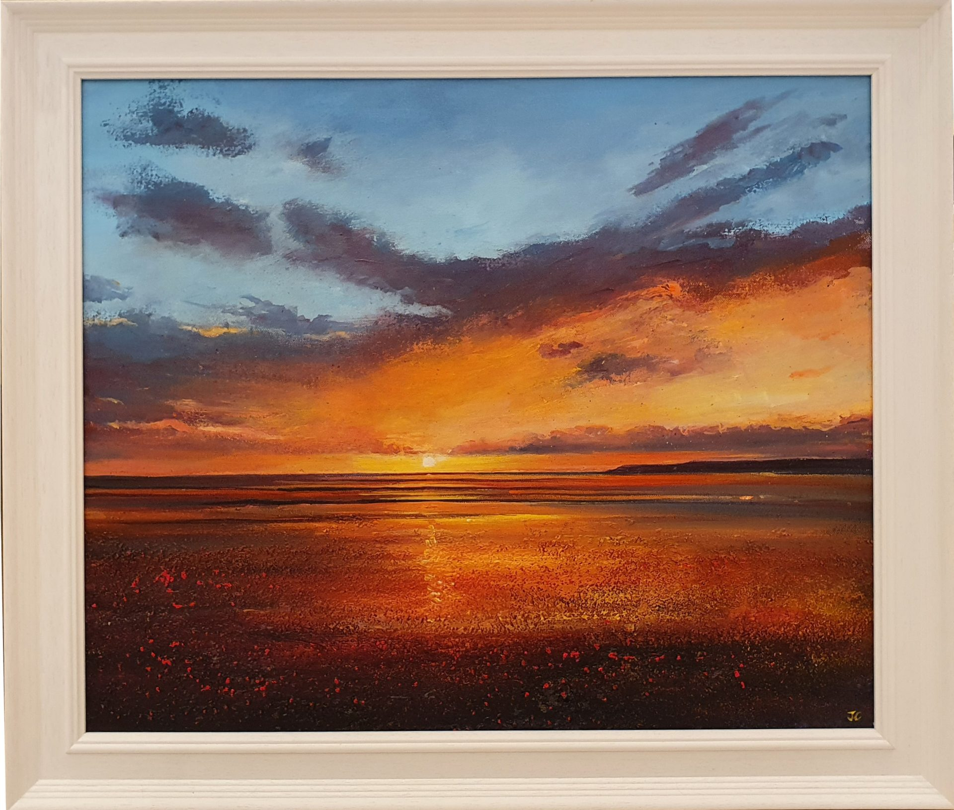 John Connolly Compton Bay framed Isle of Wight painting for sale