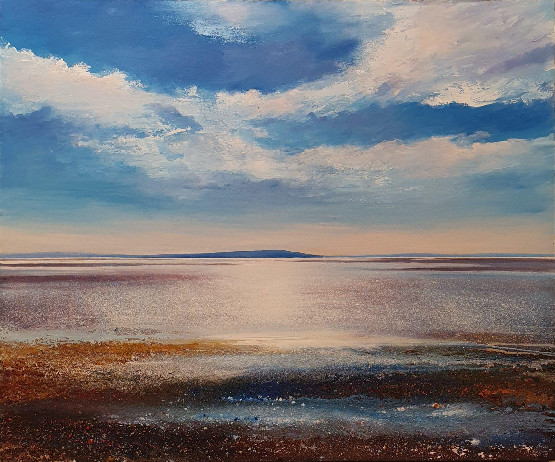 John Connolly Solway Sparkle coastal beach painting for sale