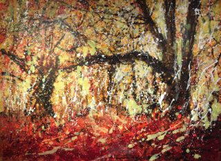 Abstracted Autumn Updated Sharon Withers 40x30