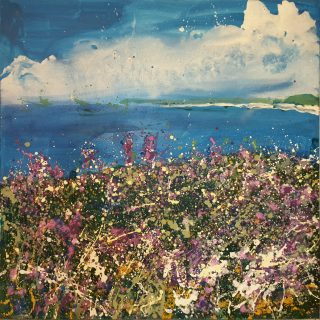 Sharon Withers Cornish Morning abstract sea painting for sale