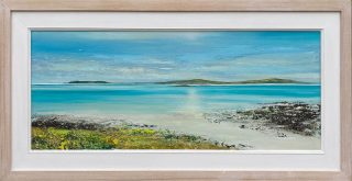 John Connolly Scilly Light panoramic beach painting for sale