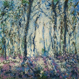 Sharon Withers Through The Trees abstract woodland for sale