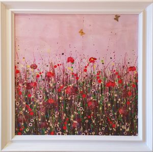 Tracey Thornton Pink Peace framed