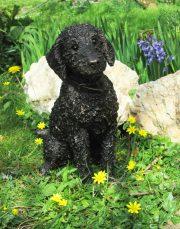 Suzie Marsh Flo Bedlington Terrier bronze dog sculpture resin artwork for sale