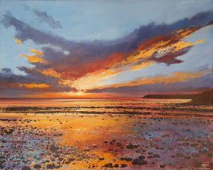 John Connolly Sunset Beach seascape painting for sale