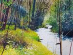 Richard Thorn Back to the river small original watercolour art for sale