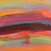 Jane Wachman Hot Sands 29 x 29 vibrant summer abstract art for sale