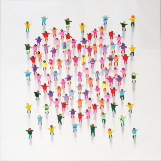 Juan Aliaga Game Of Hearts pop art painting for sale