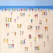 Juan Aliaga Games At The Seaside colourful painting for sale