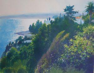 Richard Thorn La Tranche french coastal watercolour painting