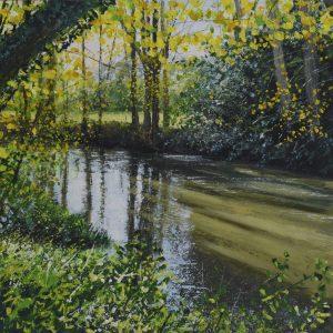 Grace Ellen Light Streams Mole surrey painting landscape for sale