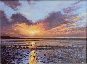 John Connolly Morecambe Bay Study lake district art landscape for sale