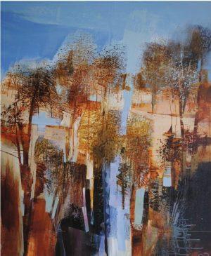 Celia Wilkinson Revisiting 120x100 original abstract landscape for sale
