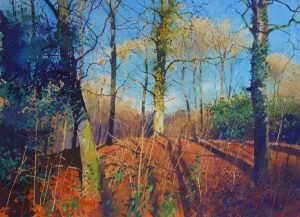 Richard Thorn 'The Old Woods' Woodland Watercolour Painting