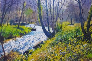 Richard Thorn The Spring river watercolour painting