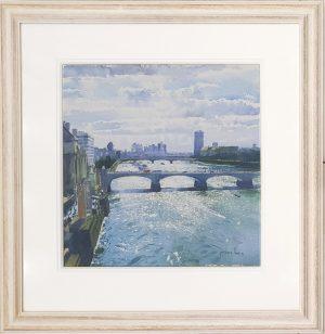 The Thames Richard Thorn framed