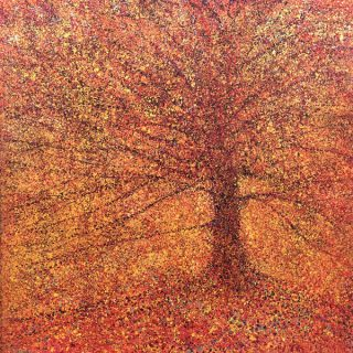 John Connolly Autumn Gold tree painting for sale