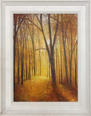 Autumn Walk framed John Connolly