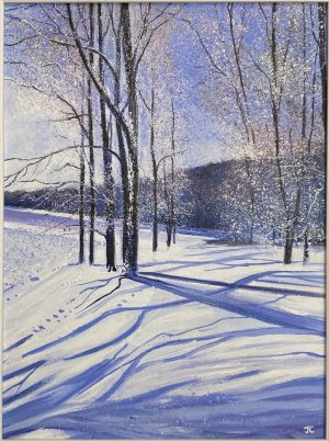 John Connolly Snow Shadows frosty winter landscape for sale