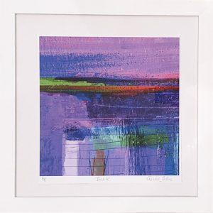Elaine Coles Dusk framed abstract digital artwork framed
