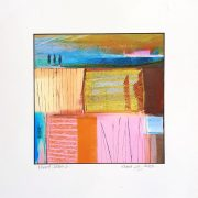 Elaine Coles Mixed Media unframed colourful abstract artwork