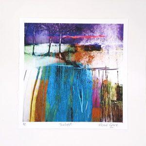 Elaine Coles Twilight unframed dark abstracted digital artwork