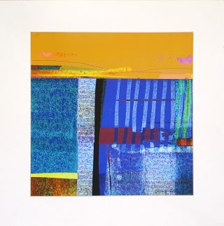 Elaine Coles Untitled unframed colourful abstract artwork