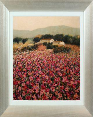Hazel Barker Flowery Meadow Menorca framed