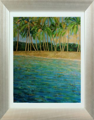 Hazel Barker Memories of Barbados framed