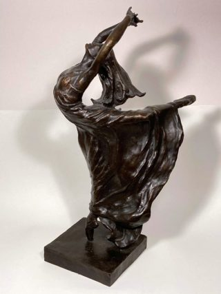Malcolm West Free Style With Attitude dancer sculpture for sale