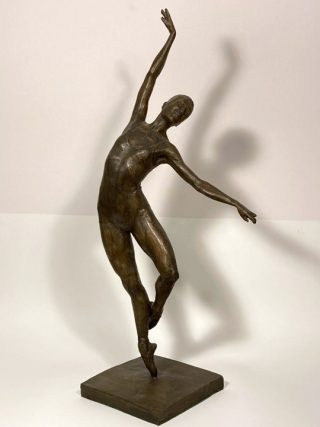 Malcolm West Natashas Solo graceful ballet sculpture for sale