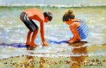 John Haskins The Pearl Fishers summer beach painting for sale