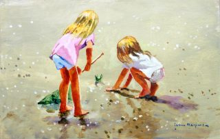 John Haskins Welcome To My Beach summer painting for sale