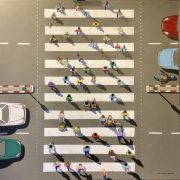 Ali Mourabet Crossing fun modern painting for sale