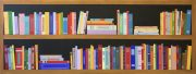 Ali Mourabet Library II colourful illusion painting for sale