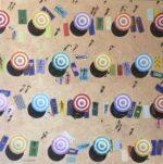Ali Mourabet Sizzle beach umbrella painting for sale