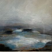 Carol Grant Harbour abstract seascape painting for sale