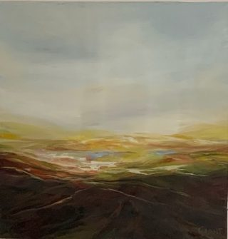 Carol Grant Landscape I minimalist painting for sale