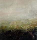 Carol Grant Peace grey abstract landscape painting for sale