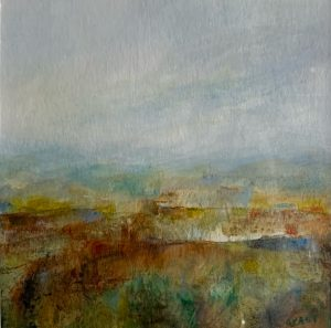 Carol Grant Summer Skies abstract landscape painting for sale