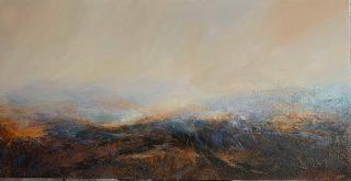Carol Grant Volcanic Landscape minimalist painting for sale