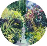 Ian Mowforth Dixter Pathway english gardens painting for sale
