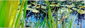 Ian Mowforth Gary and Julies Pond panoramic artwork for sale