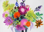 Tessa Pearson Last Summer Bouquet Tangerine vase still life