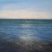 Dusk Tide 60x60cm Grace Ellen 675 M seascape painting