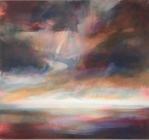 Henrietta Stuart Atlantic Skies abstract sea painting for sale