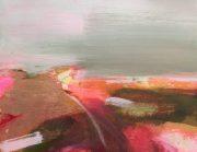 Henrietta Stuart Moorland Walk pink abstract painting