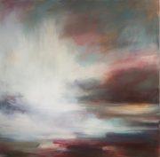 Henrietta Stuart Velvet Evening Hues abstract painting for sale