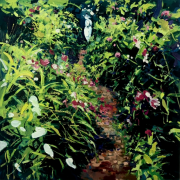 Ian Mowforth The Bloomsbury Garden painting for sale